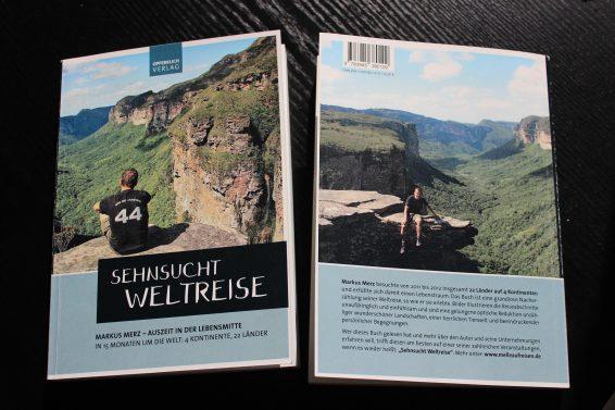 """Buch """"Sehnsucht Weltreise"""" seit 06.04.2017 im Handel!"""